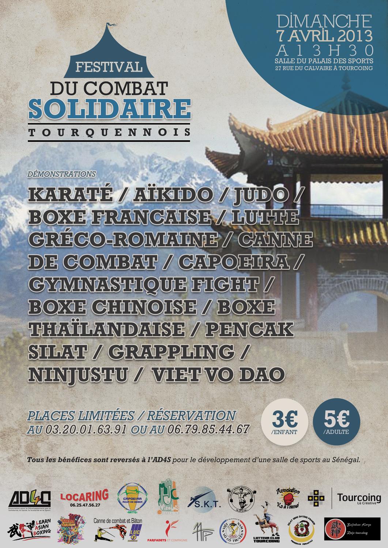 2013 04 - Affiche festival Combat Solidaire